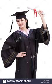 college graduation gown happy college graduate in graduation gown stock photo 59325104
