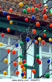 European Easter Egg Decorations by Easter Eggs Decorations Colourful Street Decoration Hameln Hamlyn
