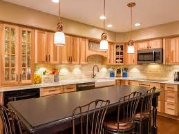 hickory kitchen cabinets with kitchen island of best modern