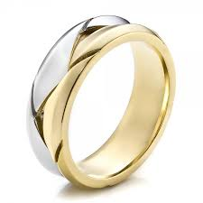 two tone mens wedding bands men s braided two tone wedding band 100125