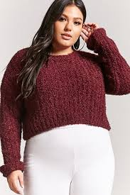 plus size fuzzy sweater forever21