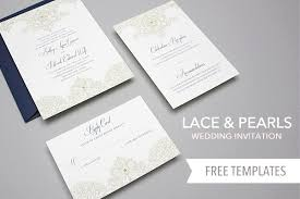 diy wedding invitations templates free template lace pearls wedding invitation set yes