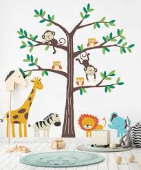 Safari Nursery Wall Decals Safari Tree With Animals Safari Themed Nursery Wall Decal
