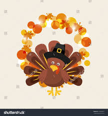 happy thanksgiving card turkey icon stock vector 518580337