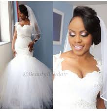 new arrival 2017 nigerian mermaid sweetheart lace tulle church