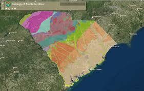 Map South Carolina Coast Interactive Map Of The Geology Of South Carolina American