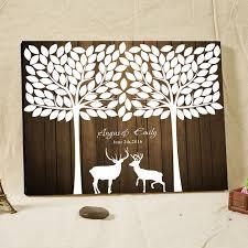 vintage wedding guest book aliexpress buy deer trees vintage wooden wedding guest