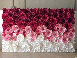 flower backdrop large paper flowers paper flower backdrop paper flowers