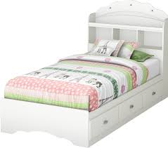 twin bed frame with drawers and headboard south shore tiara twin mate u0027s bed with storage and headboard
