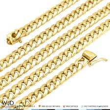 gold cuban necklace images 10k yellow gold hollow 10mm miami cuban chain necklace 28 best jpg