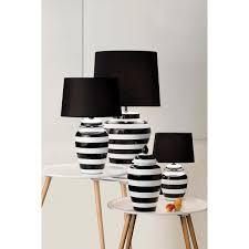 lighting australia 928 pepper black and white stripe lamp