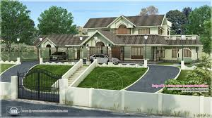 home hillside plot above road level kerala design house plans