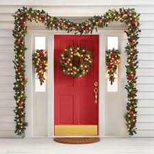 the cordless prelit ornament trim wreath hammacher schlemmer
