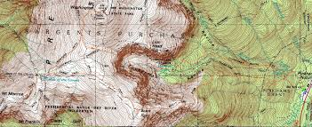 Topographic Map Of Washington by Boott Spur Mt Monroe Mt Washington New Hampshire September