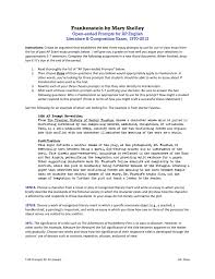 frankenstein by mary shelley ap english literature u0026 composition