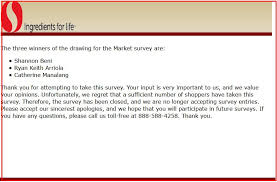 survey for gift card safeway survey win 100 safeway customer survey gift card