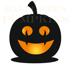 pumpkin face svg halloween pumpkin face silhouettes clipart for print black