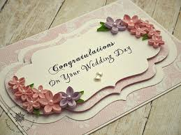 congratulations on your wedding on your wedding day