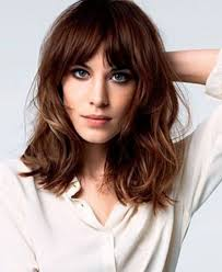 lob hairstyles with bangs wavy lob hairstyle with bangs hairstyles ideas me