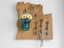 key holder wall key holder wall vase candle on upcycled vintage barn wood skeleton