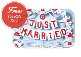 free gift with wedding registry free 20 00 target egift card with wedding registry