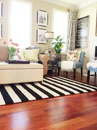 Living Room Without Rug A New Living Room Rug Stripes For The Win
