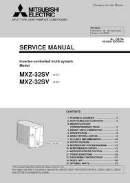 mitsubishi inverter air conditioner manual srk35zj s air