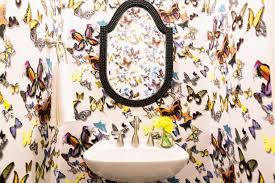 wallpaper designs for bathrooms 15 beautiful reasons to wallpaper your bathroom hgtv s decorating