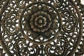 wood carved wall decor large wood carving sacred fig leaf