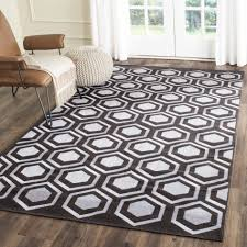 Modern Rugs Direct by Modern Rectangle Home Trends Area Rug Black And White Stripe Made