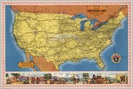Map Of Canada And Usa by Map Of The Greyhound Lines In The United States Canada And Mexico