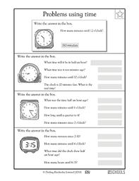 3rd grade math worksheets how many minutes greatschools