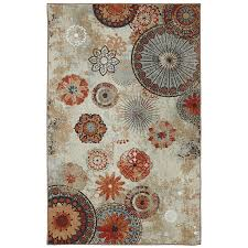Outdoor Rug Lowes by Shop Mohawk Home Alexa Medallion Gray Rectangular Outdoor Machine