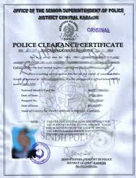 clearance certificate sample police clearance certificate pakistan format birth certificate