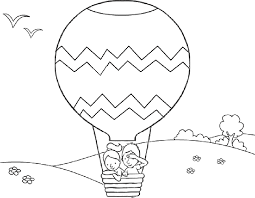 balloon coloring pages two kids in air balloon coloring pages balloons coloring