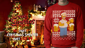 official simpsons homer ugly christmas sweater crewneck