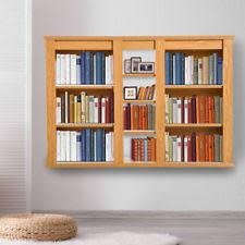 Black Dvd Cabinet Floating Wall Storage Shelf Media Cabinet Dvd Movies Books Wood