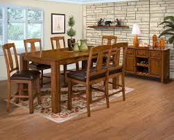 Mission Style Dining Room Sets by Oak Wood Mission Style Dining Room Chairs With Black Leather Pad