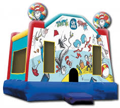 orange county party rentals the cat in the hat jumper bounce house party rental for los