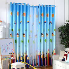 Baby Curtains Blackout Bedroom Home Curtains Tulle For Children Blue Infant