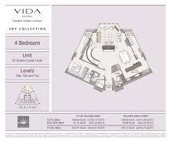Burj Khalifa Floor Plans Vida Residence Downtown Dubai Emaar Properties