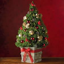 living room mini christmas tree decorating ideas with round
