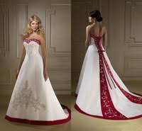 Strapless Wedding Dress Red And White Strapless Wedding Dresses Wholesale Red U0026amp