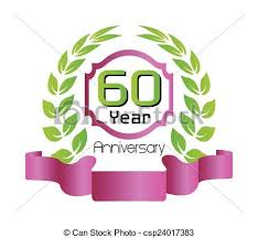 60 birthday celebration vector of 60 year birthday celebration 60th anniversary