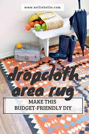 How To Make A Area Rug Paint A Dropcloth Rug