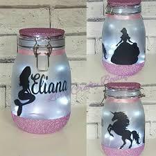 mermaid night light mood lighting little mermaid jar with fairy