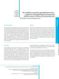 Gute Und G Stige K Hen Die Instabile Traumatische Spondylolisthese C2 3 Ergebnisse Und