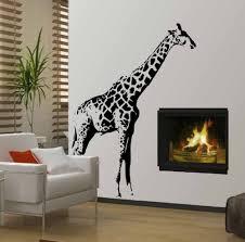 28 giraffe wall mural giraffe wall mural decal animal wall giraffe wall mural giraffe jungle zoo boy kid mural wall decor vinyl decal ebay