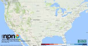 Weather Usa Map Status Of Spring Usa National Phenology Network