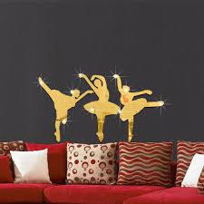51x28cm creative dance ballet girl mirror paste bedroom living see larger image